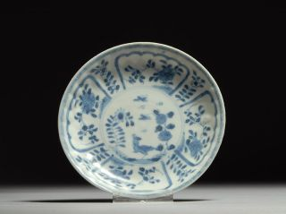 Antique Ca Mau Cargo Shipwreck Bird & Butterfly Chinese Porcelain Plate photo