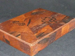Gorgeous Antique Meiji Japanese Koyosegi And Lacquer Box photo