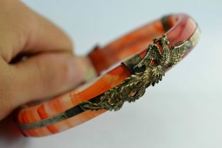 - China Old Decorated Handwork Agate Amoured Dragon Bracelet photo