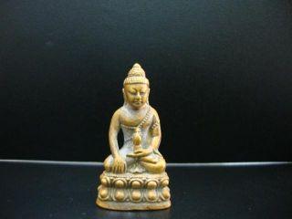 Thai Amulet Buddha Phra Kring Pendant Brass Bangkok Lucky Amulets photo