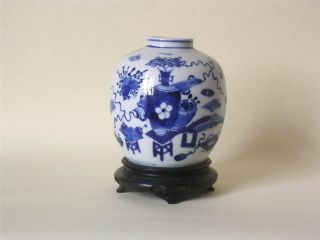 A Chinese Porcelain Blue & White Ginger Jar photo