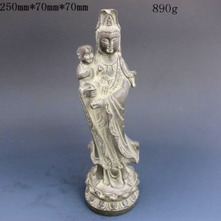 Chinese Bronzes Carving Statues - - - - - Kwan Yin Nr photo