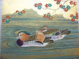Japanese Woodblock Print,  A Pair Of Mallard Ducks photo