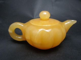 100% Natural Mihuang Jade Teapots & Lid Nr photo