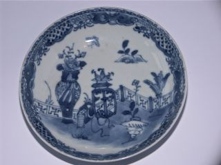 Qing Chinese Porcelain Blue & White Dish Handpainted With Butterflies & Symbols? photo