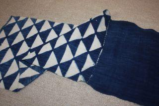 Japanese Old Antique Indigo Boro Katazome Rag Hand - Spun Textile 1800 - 1868 3 photo