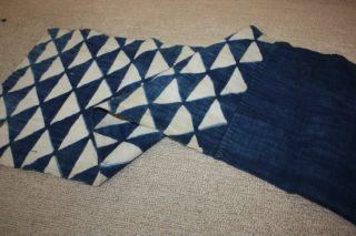 Japanese Old Antique Indigo Boro Katazome Rag Hand - Spun Textile 1800 - 1868 4 photo