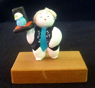 Japanese Doll Keshi,  Tokyo Area 1970 ' S,  Miniature 1.  5 Inches Tall photo