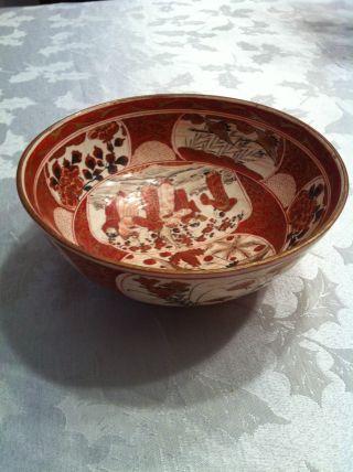 Rare Japanese Export九谷 Bowl,  C.  1880 photo