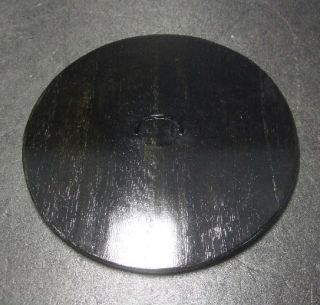 F429: Japanese Lacquer Ware Lid For Water Container Mizusashi Wooden 7.  1 Inch photo