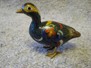 1900s Chinese Cloisonne Duck. photo