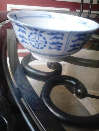 Amazing Chinese Antique Blue And White Tea Bowl/rice Bowl photo