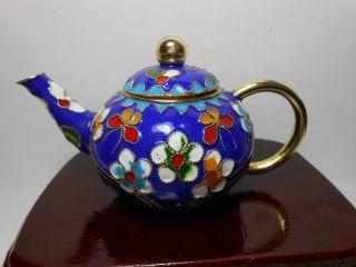 China ' S Delicate Cloisonne Teapot photo