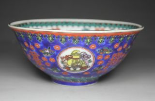 Chinese Handwork Painting Flower Dragon Phoenix Old Porcelain Bowl photo