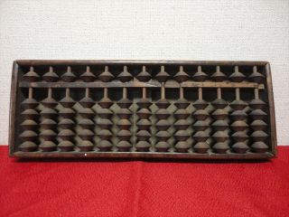 Japanese Antiques Wooden Calculator Abacus Traditional Item Kanji 005 photo