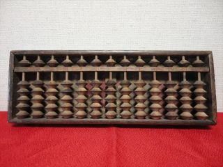 Japanese Antiques Wooden Calculator Abacus Traditional Item Kanji 006 photo