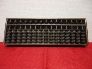 Japanese Antiques Wooden Calculator Abacus Traditional Item Kanji 007 photo