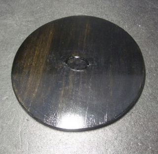 F428: Japanese Lacquer Ware Lid For Water Container Mizusashi Wooden 7.  0 Inch photo