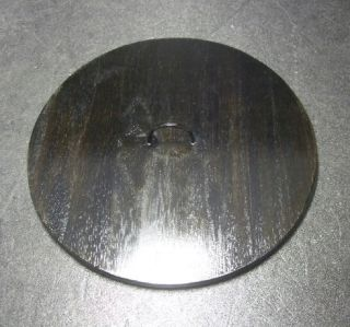 F431: Japanese Lacquer Ware Lid For Water Container Mizusashi Wooden 7.  5 Inch photo