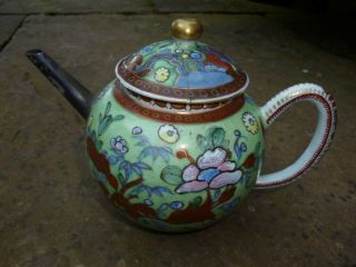 Fine Antique Chinese / Japanese? Teapot With Silver Spout - 18th / 19th Century? photo