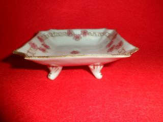 Rare Imperial Nippon Porcelain Footed Dresser Trinket Look photo