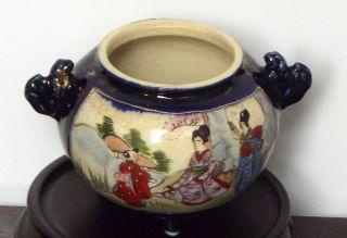 Satsuma Incenese Burner Kinkozan Meiji Period photo