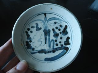 17thc Ming Dynasty Blue & White