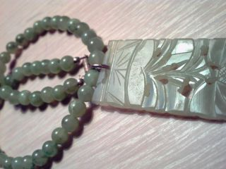 Old 19th Qing Chinese Antique Jade Necklaces Pendants photo