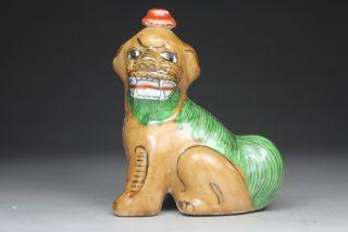 Asian Oriental Old Porcelain Wonderful Handwork Kirin Snuff Bottle photo