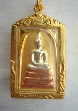 Phra Somdej - Chinnabanchorn 3 Tone - Thai Buddha Amulet Pendant Wealthtalisman photo