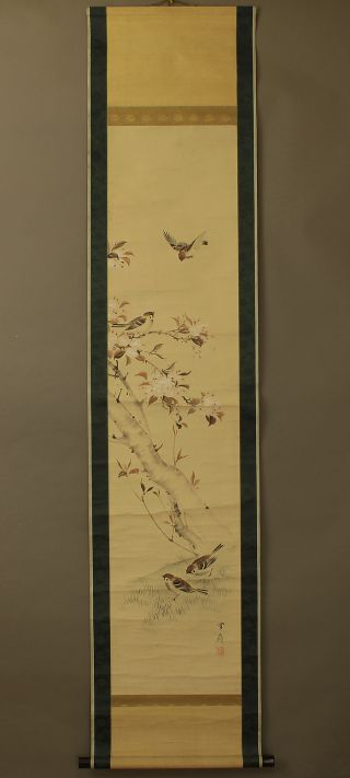 Japanese Hanging Scroll @b198 photo