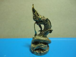 Wealth Naga Rich Luck Good Business Charm Thai Amulet photo