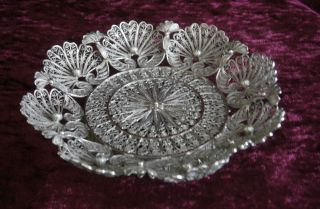 Magnificent Antique Chinese Export Silver Filigree Bowl/dish (75g Not Scrap) - Nr photo