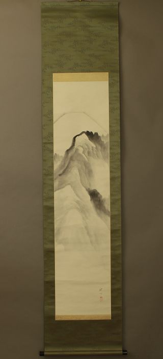 Japanese Hanging Scroll @b185 photo