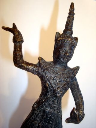 And Rare Dancing Bronze Apsara Statue,  Buddha,  Hindu From Angkor Wat photo