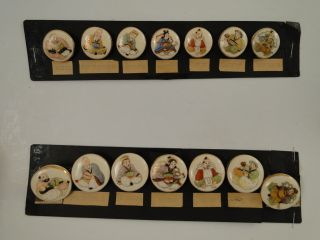 Pair Antique Japanese C.  1920 Buttons Of The Seven Immortals photo