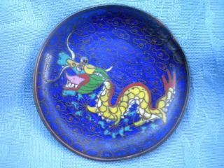 Vintage Cloisonne Dragon Pin Dish photo