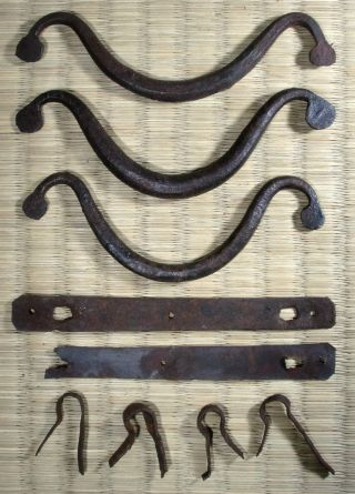 Cast Iron Drawer Pull / Japanese Tansu / Set Of 3 / Antique photo
