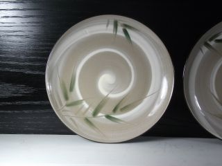 Hand Painted Bamboo Antique Japanese Small Plates Set Of 4 photo