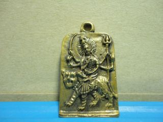 Durga Devi Powerful Fearless Hindu Thai Amulet Pendant photo