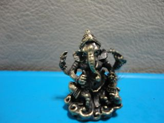 Lord Ganesh Om Hindu Charm Thai Success Amulet Talisman photo