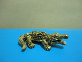 Wealth Crocodile Rich Lucky Business Charm Thai Amulet photo