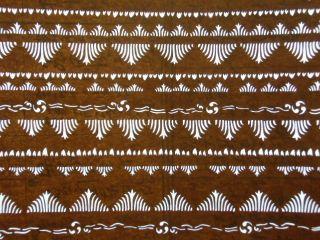 Is366 Japanese Ise Katagami Kimono Stencil Pattern Print Leaf Tree Flower Wave photo
