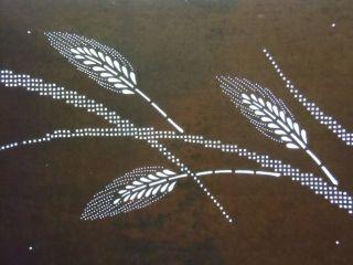 Is360 Japanese Ise Katagami Kimono Stencil Pattern Print Barley Rice Leaf Grain photo