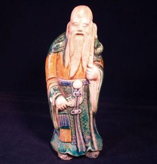 Antique/vintage Japanese Pottery Figure - Oriental - Man - Figurine/ornament photo