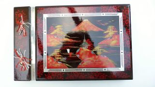 Wedding Album Japanese Mount Fuji M O P Laqured 1930s Vintage Collect Photobook photo