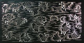 Antique 19c Japanese Ise Katagami Kimono Stencil Art Edo - Meiji Period 型紙 1696 photo