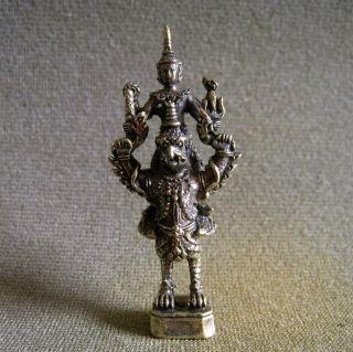 Narai On Garuda Powerful Wealth Lucky Charm Thai Amulet photo