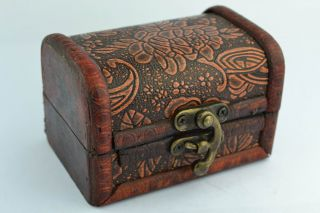 Asian Rare Old Collectibles Decorated Handwork Wood Carving Flower Jewel Box photo
