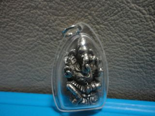 Lord Ganesh Hindu Bring Wealth Success Amulet Pendent photo